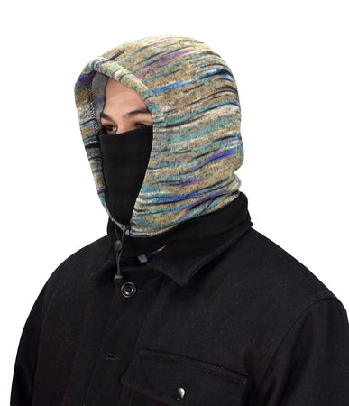 Thick Knit Faded TealOne Hole Facemask Balaclava