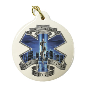 9/11 Blue Skies EMS Christmas Ornament-Military Republic