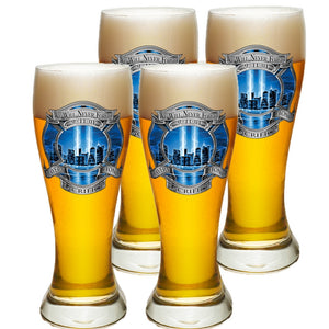 9/11 Blue Skies Firefighter Pilsner Glass Set-Military Republic