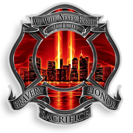 Bravery, Honor and Sacrifice Firefighter Decal-Military Republic