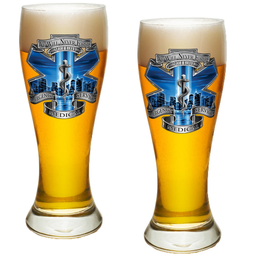 9/11 EMS Blue Skies Pilsner Glass Set-Military Republic