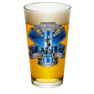 9/11 EMS Blue Skies Pint Glasses-Military Republic