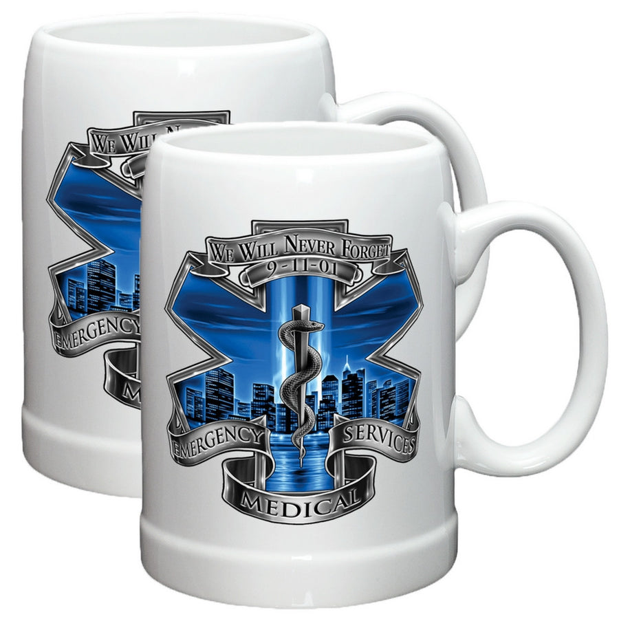 9/11 EMS Blue Skies Stoneware Mug Set-Military Republic