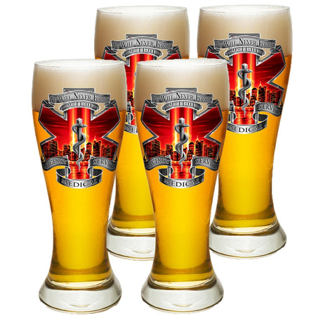9/11 EMS Red Skies Pilsner Glass Set-Military Republic