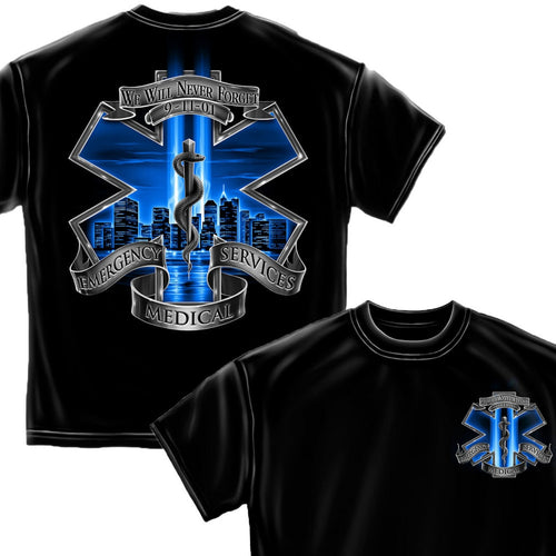 9/11 EMS T Shirt-Military Republic