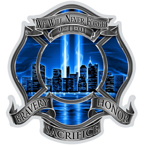 9/11 High Honor Firefighter Decal-Military Republic