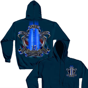 9/11 Memorial Navy Hoodie-Military Republic