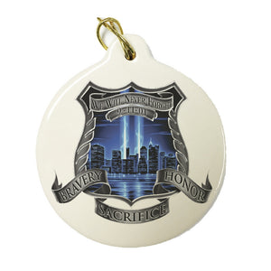 9/11 Police Christmas Ornament-Military Republic