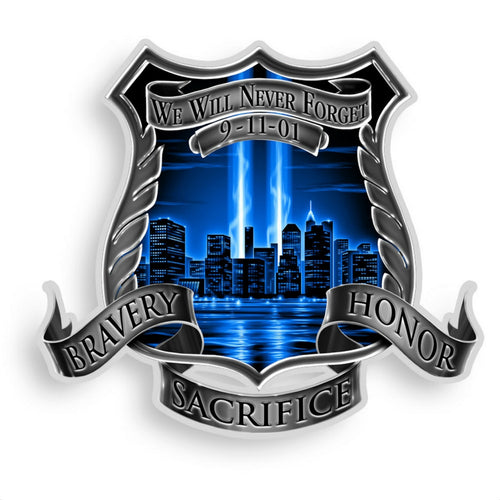 9/11 Police Decal-Military Republic