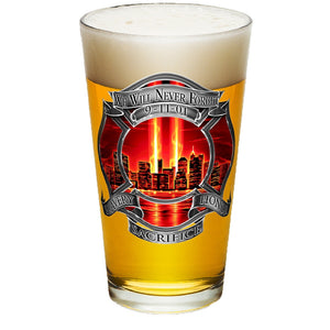 9/11 Police Red Skies Pint Glasses-Military Republic