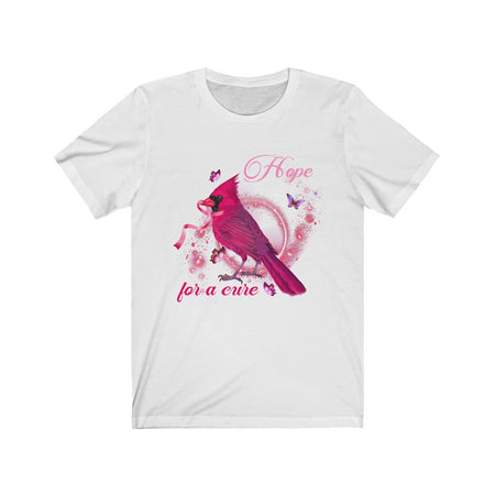 Hope For a Cure Red Robin and Butterfly - Cancer Awareness T-shirt