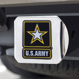 US Army Color Chrome Hitch Cover
