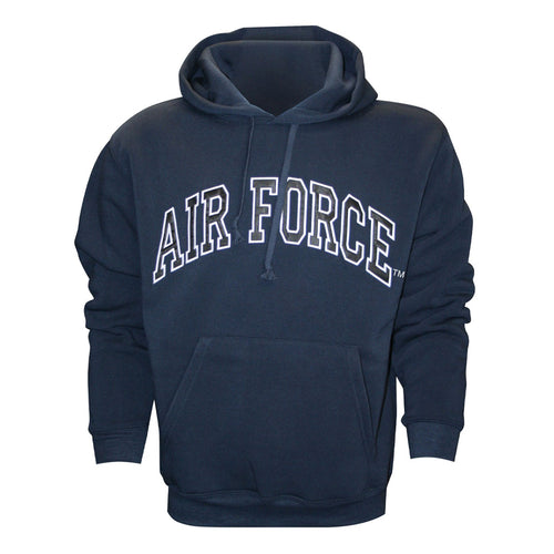 Air Force Embroidered Applique on Blue/Fleece Pullover Hoodie