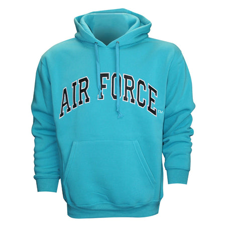 Air Force Embroidered Applique on Turquoise/Fleece Pullover Hoodie
