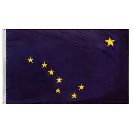 Alaska State Nylon Outdoors Flag- Sizes 2' to 10' Length