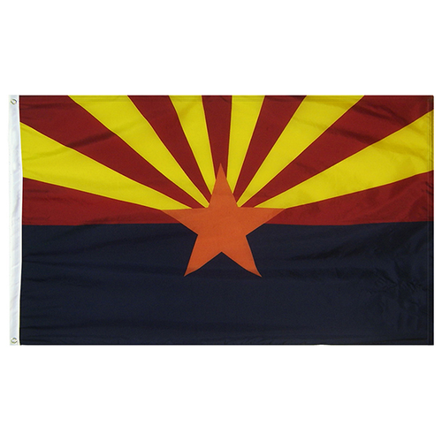Arizona State Nylon Outdoors Flag- Sizes 2' to 10' Length