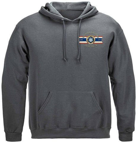 Army Eagle Antique This We'll Defend Premium Hoodie