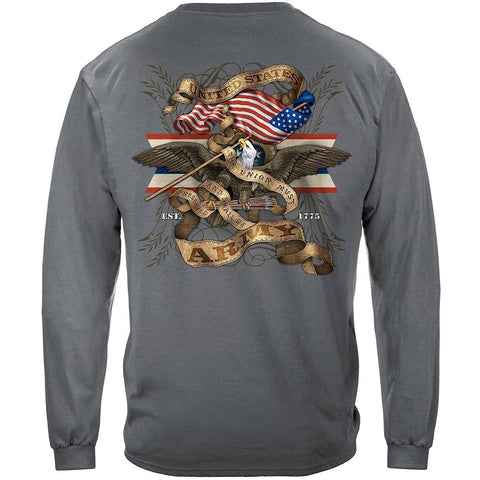 Army Eagle Antique This We'll Defend Premium Long Sleeve