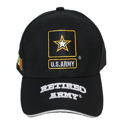 United States Army Retired Black Cap