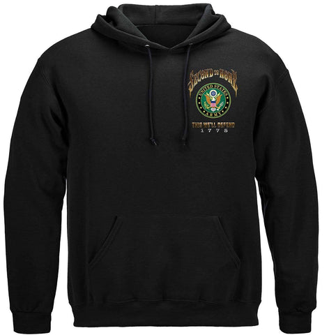Army Second To None Hoodie with Army Insignia