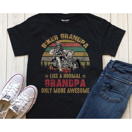 Awesome Biker GrandPa T-shirt
