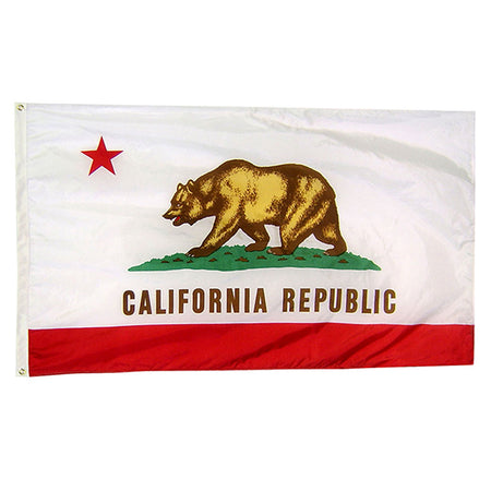 California State Nylon Outdoors Flag- Sizes 2'x3'/ 3'x5'/ 4'x6'/ 5'x8' /6'x10'