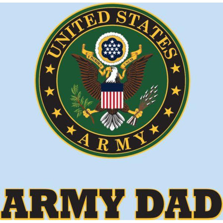 "U.S. Army Dad Decal 3""x4.25"""