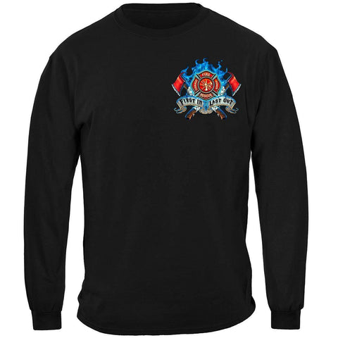 Fire Dog First In Last Out Firefighter Long Sleeve