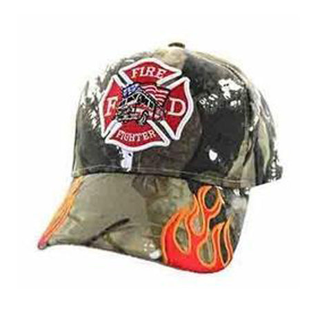 Firefighter First in Last Out - Fire Truck with Fire Streak Camo Cap