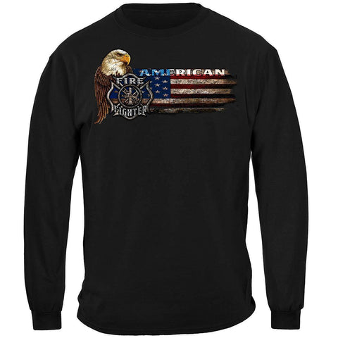 Firefighter Eagle And Flag Long Sleeve