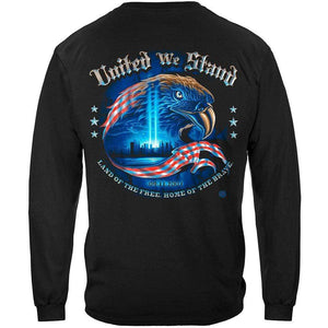 Firefighter United We Stand with Eagle T-shirt