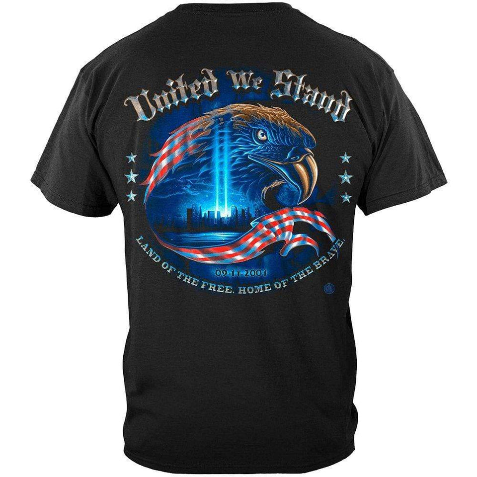 Firefighter United We Stand with Eagle Hoodie