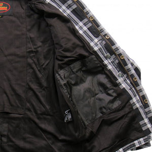 Hot Leathers Armored Black and White Flannel Jacket