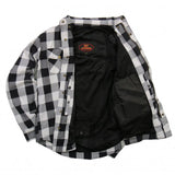 Hot Leathers White and Black Armored Flannel Jacket