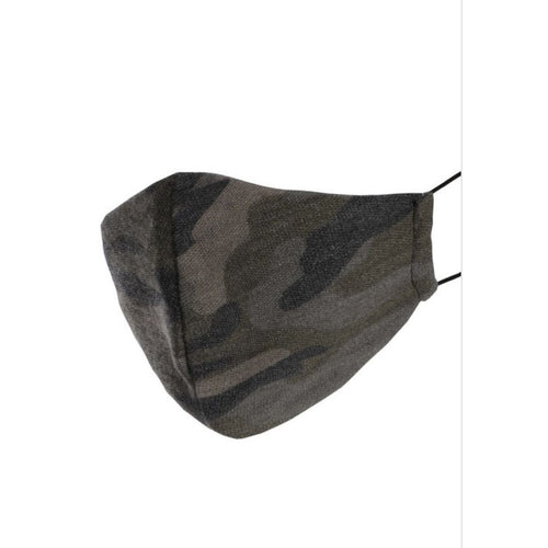 Camo Design Reusable, Washable Face Mask with Filter