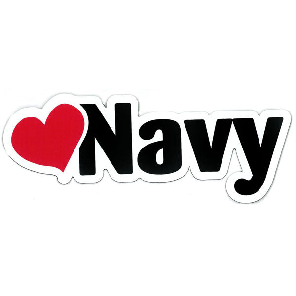 """Love Navy"" Heart with Navy Die Cut Auto Magnet"
