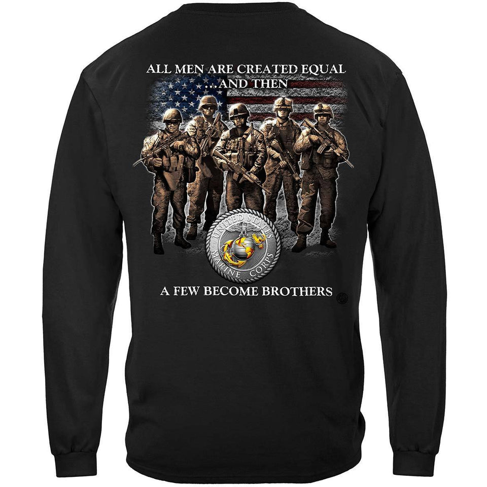 Marines A Few Became Brothers Hoodie