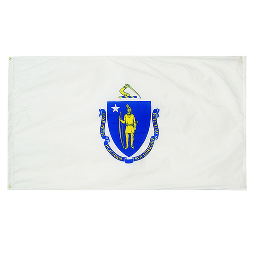 Massachusetts State Nylon Outdoors Flag- Sizes 2' to 10' Length