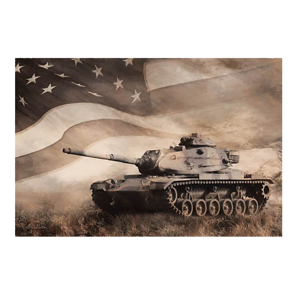 US Military Army Tank Wooden Block Sign