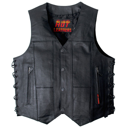 Genuine Cowhide Leather 10 Pocket Motor Bike Vest