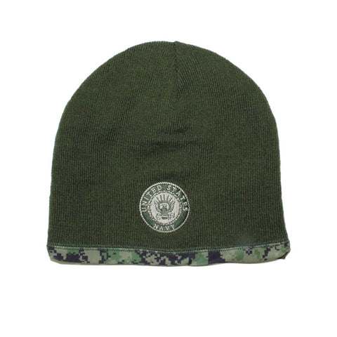 U.S. Navy Reversible Green Camo Beanie