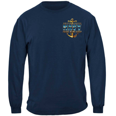 Navy Pride Runs Deep Long Sleeve