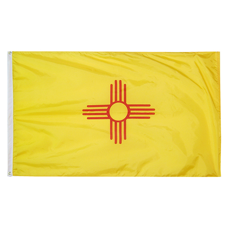 New Mexico State Nylon Outdoors Flag- Sizes 2' to 10' Length