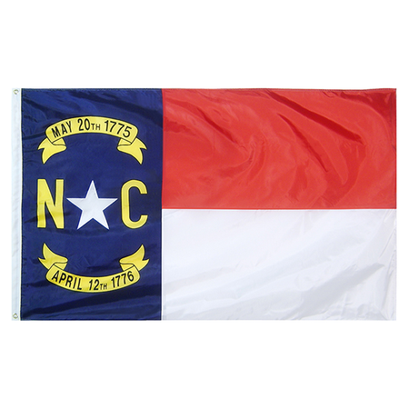 North Carolina State Nylon Outdoors Flag- Sizes 2' to 10' Length
