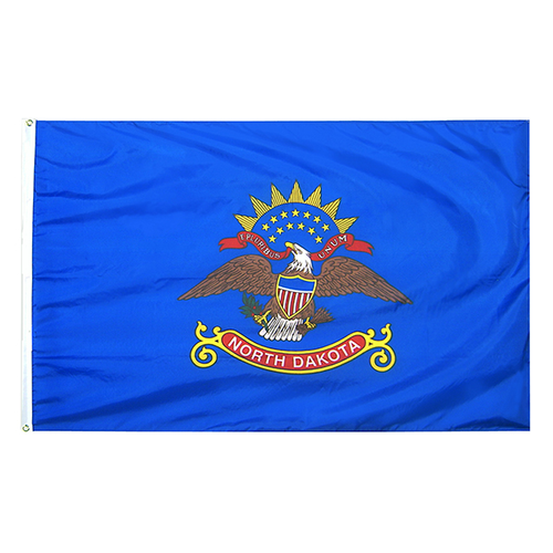 North Dakota State Nylon Outdoors Flag- Sizes 2' to 10' Length