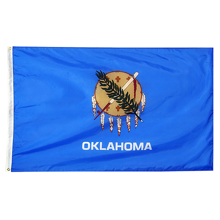 Oklahoma State Nylon Outdoors Flag- Sizes 2' to 10' Length
