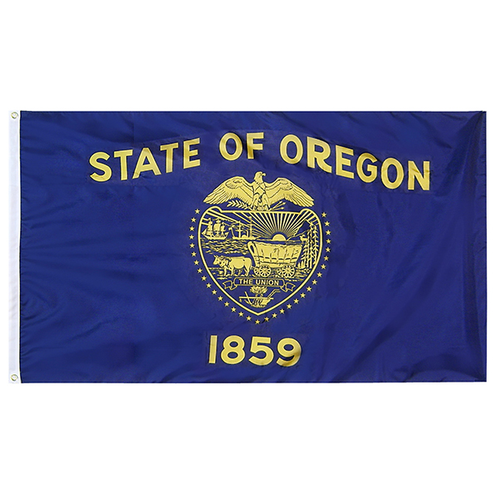 Oregon State Nylon Outdoors Flag- Sizes 2' to 10' Length
