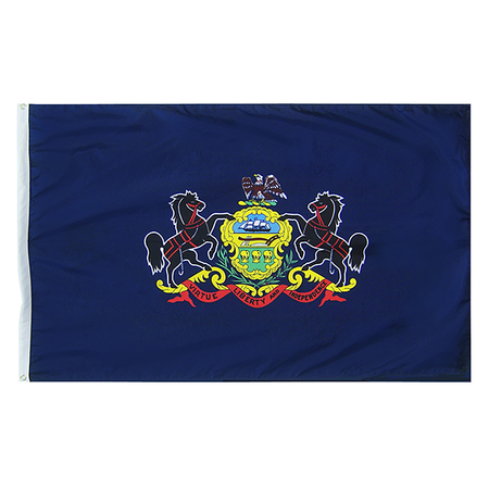 Pennsylvania State Nylon Outdoors Flag- Sizes 2' to 10' Length