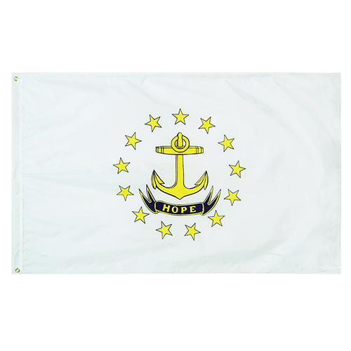 Rhode Island State Nylon Outdoors Flag- Sizes 2' to 10' Length