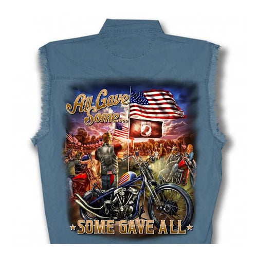 Remembrance All Gave Some Some Gave All Sleeveless Denim Shirt